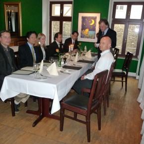 Begrüßung durch Ehrenpräsident Michael Gosewisch