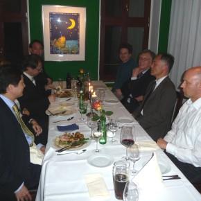 Abendessen im Restaurant Fürstenwall